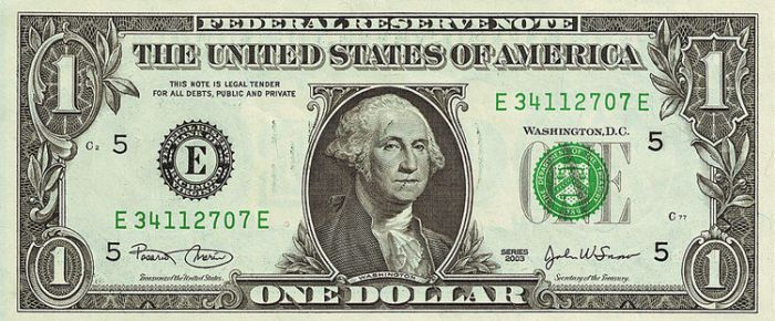 """A so-called """"Dollar Bill"""" or """"Note"""" as it is formally known. Credit: Wikimedia Commons"""