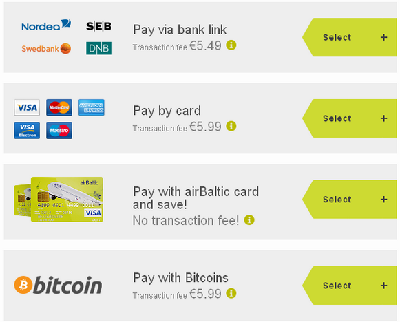 Air baltic bitcoin