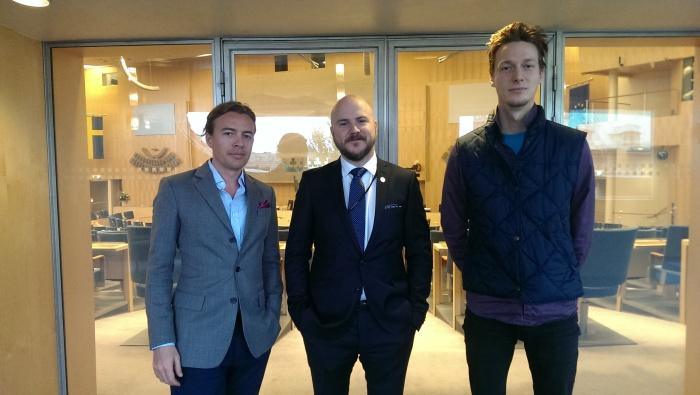 Joakim och Christian i Riksdagen